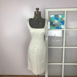 NWT Lauren Ralph Lauren Gold Pattern Sheath Dress